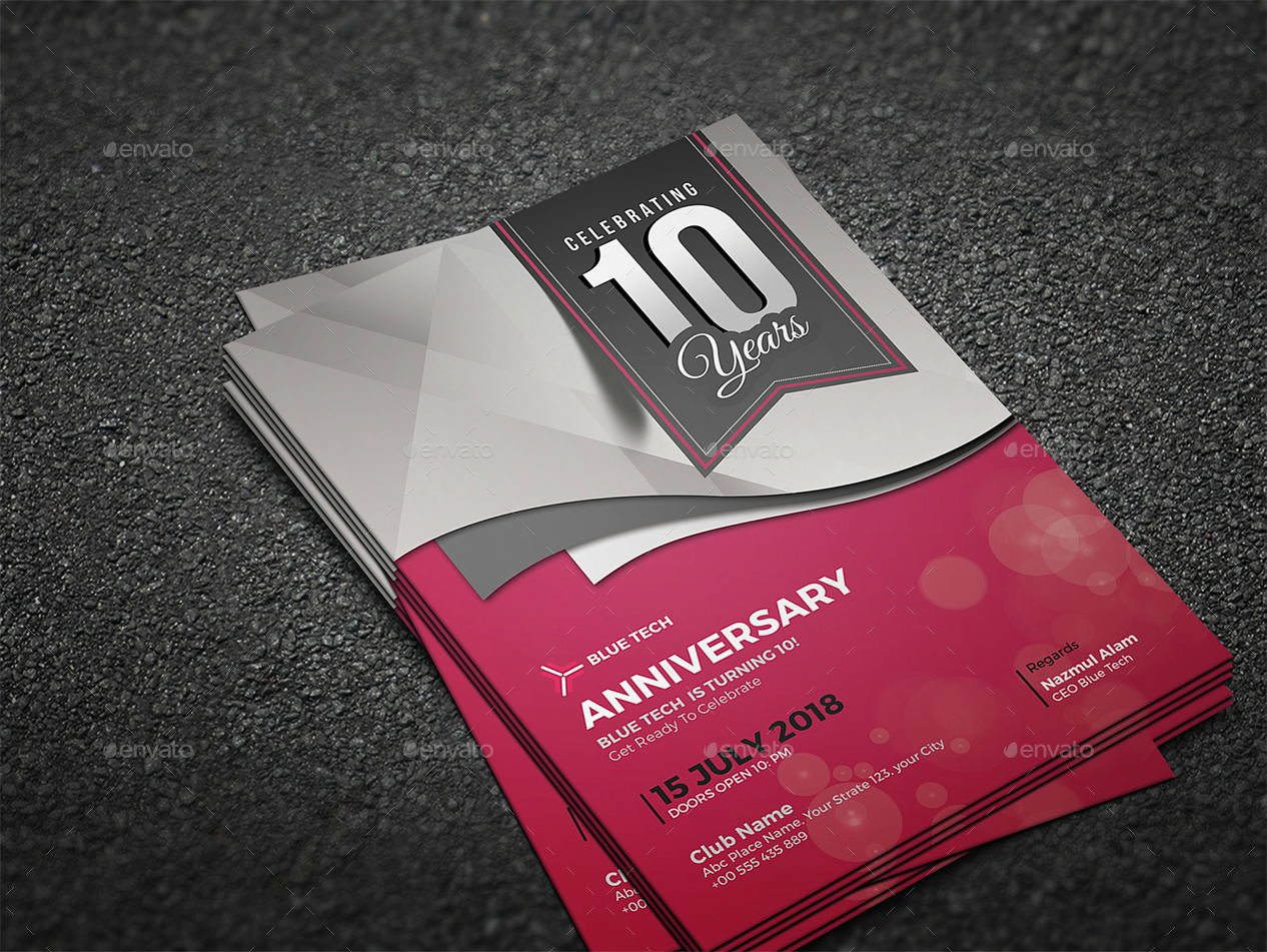 company anniversary invitation card
