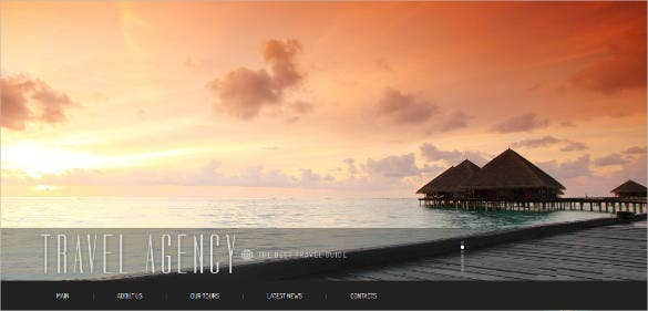 company travel agency template