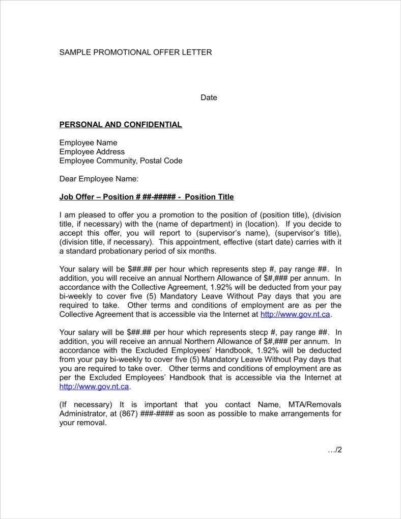 10 Promotion Announcement Letters – Promotion Announcement Letter