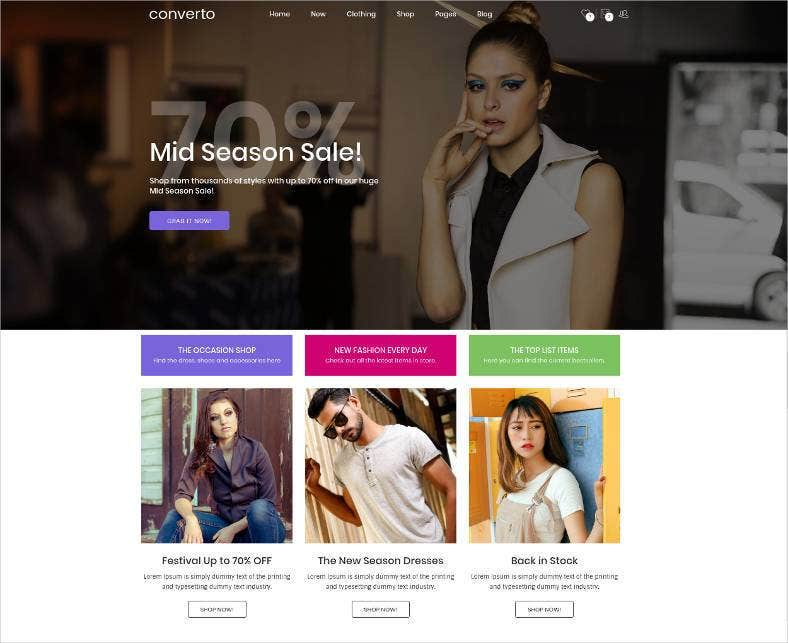conversion optimized ecommerce html5 template 788x643