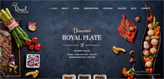 cooking catering wp theme