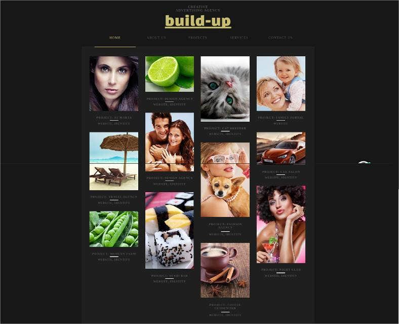 creative advertising agency website template 788x639