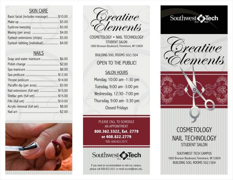 Salon Price List Templates Free Samples Examples Formats - Price list brochure template