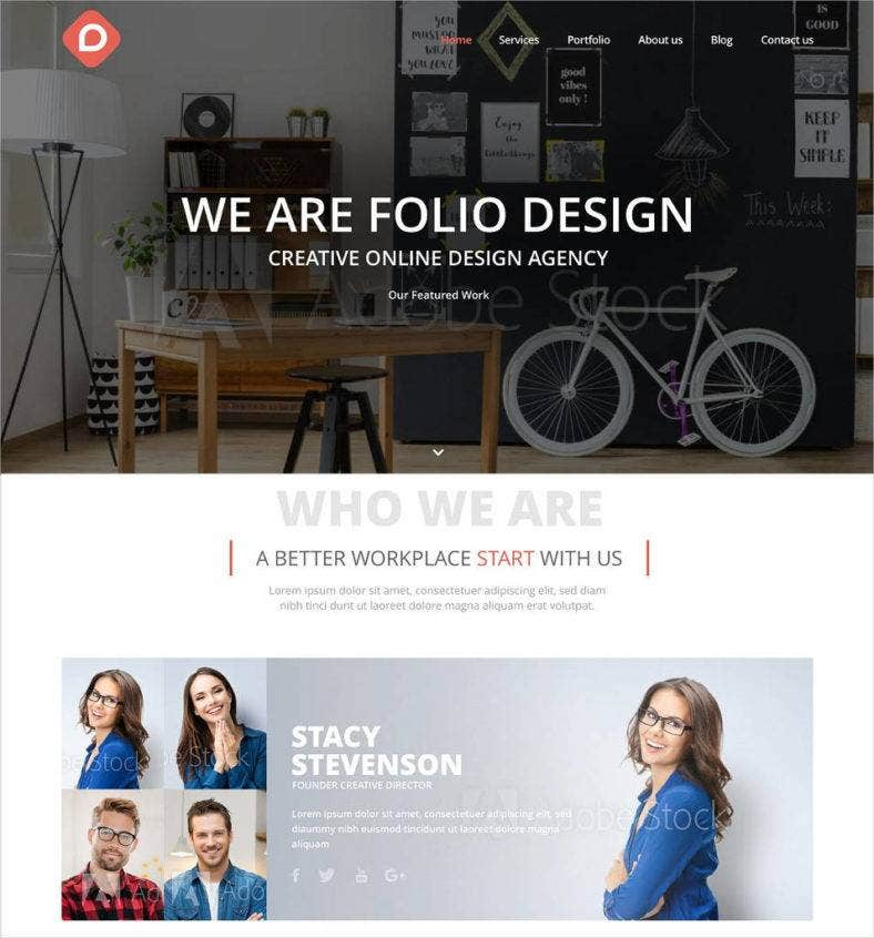 creative model agency website theme template 788x846