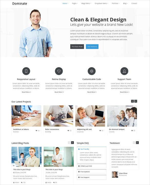 creative responsive html template