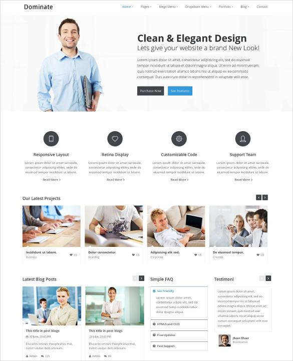 creative responsive html template