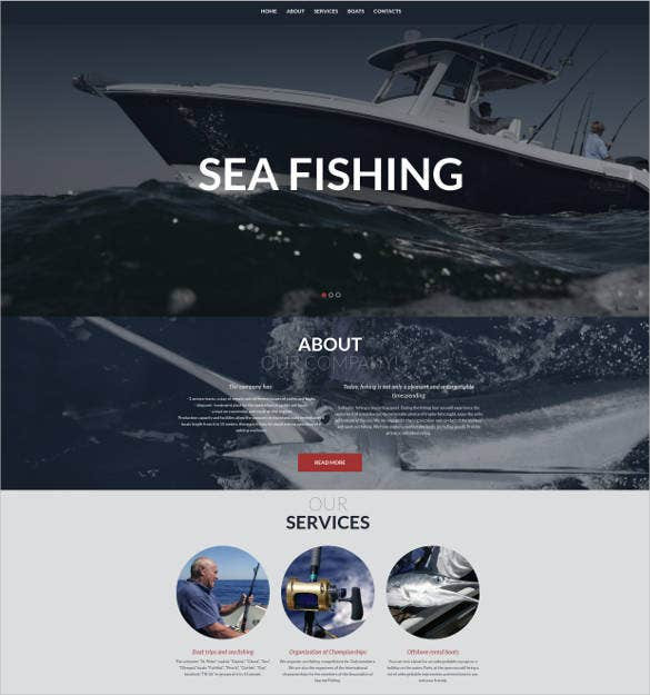 creative website design for fishermen