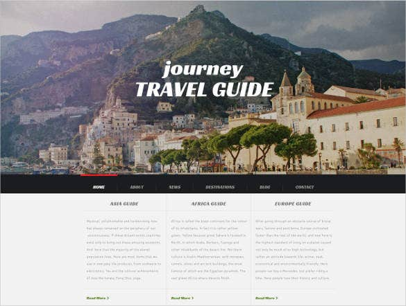 cruise travel agency website template