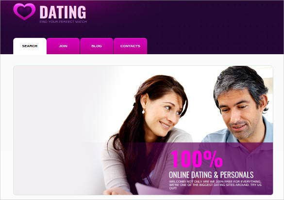 dating service website template