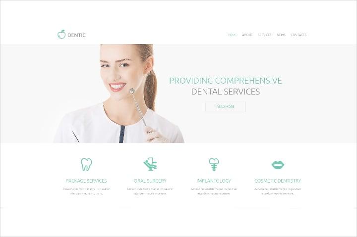 dentistry responsive drupal template