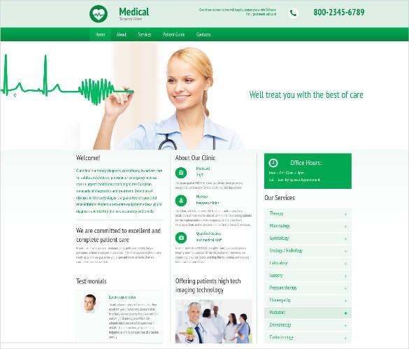 Diagnostic Medicine Website Template