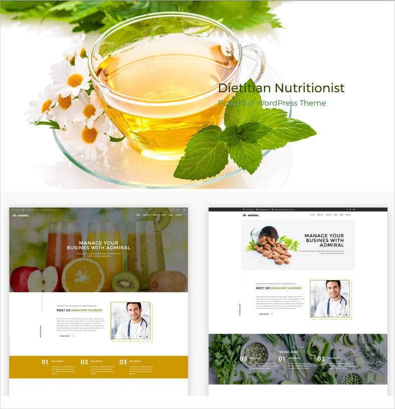 dietitian nutrition health professionals wp theme 788x816