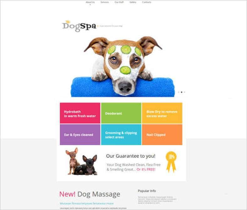 dog spa website template1 788x669