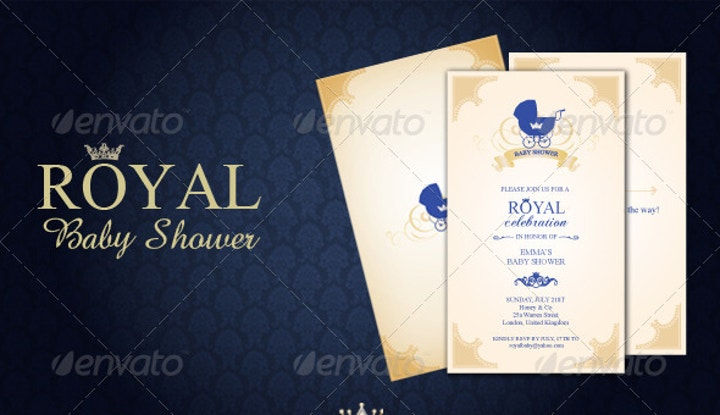 elegant baby shower invitation