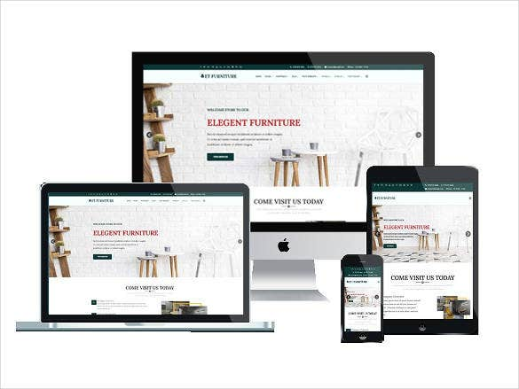 elegant furniture joomla website