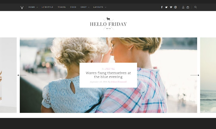 elegant lifestyle blog theme