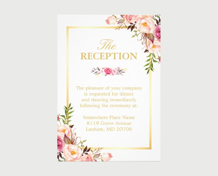 Elegant Wedding Reception Invitation