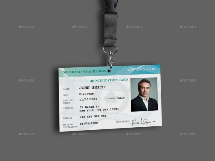 employee id card design