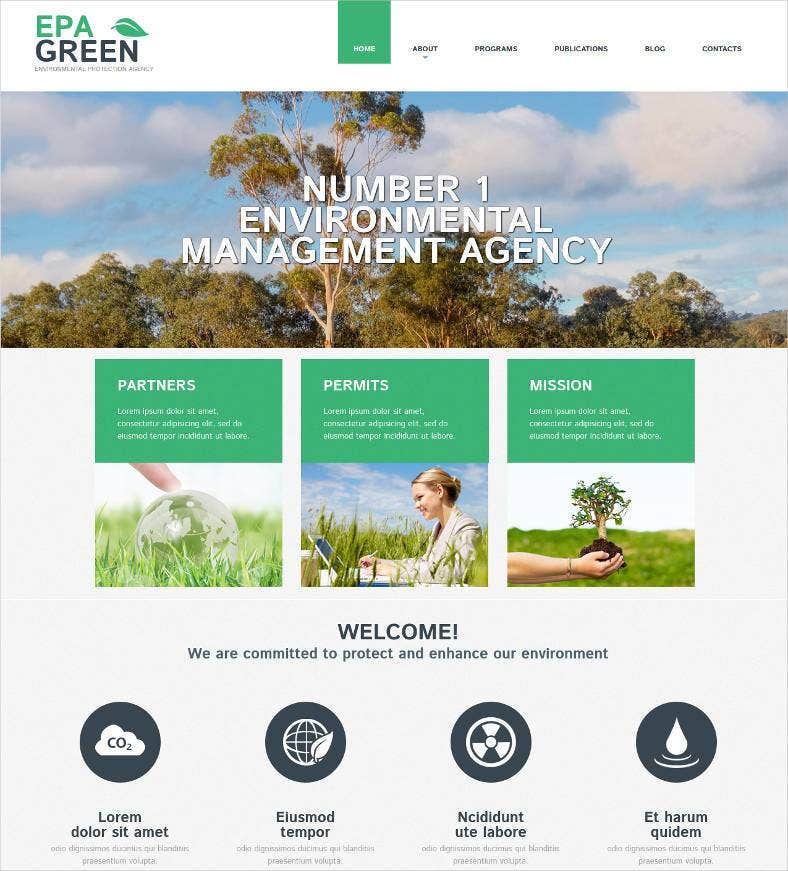 environmental organization website design 788x871