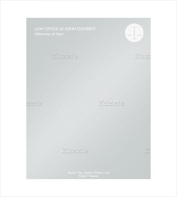 example format law firm modern letterhead
