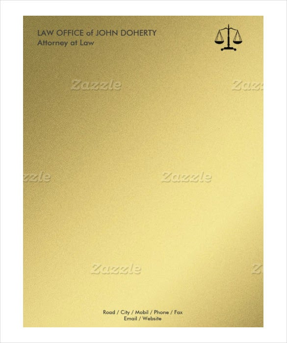 Example Law Office Letterhead Format