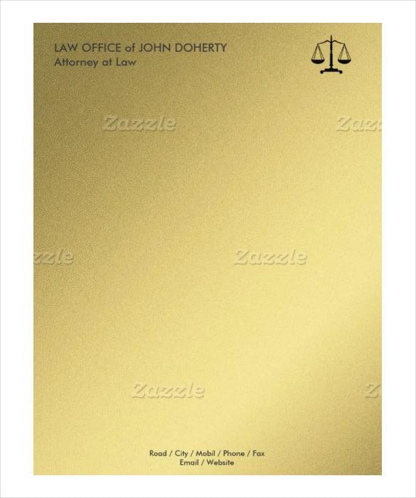 Example Law OfficeLetterhead Format