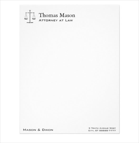 example scales of justice legal letterhead