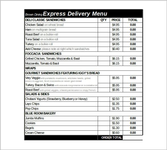 express delivery order form excel download3