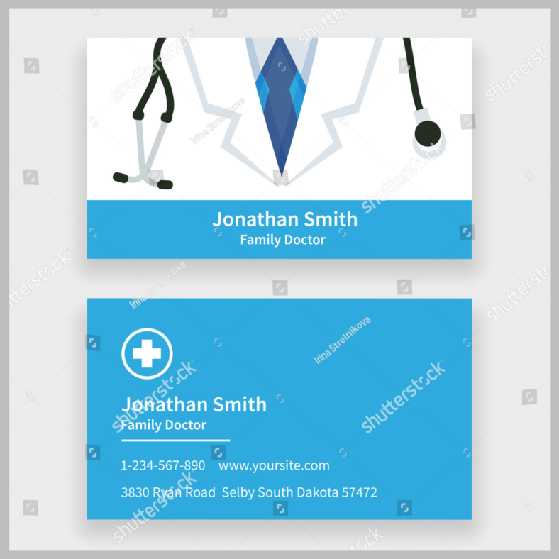 family-doctor-personal-card-design-template