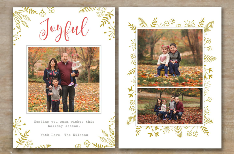 family-holiday-card-template