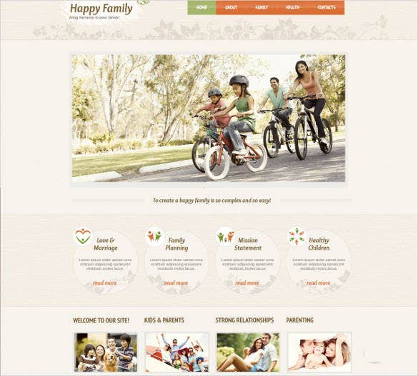 family support web template