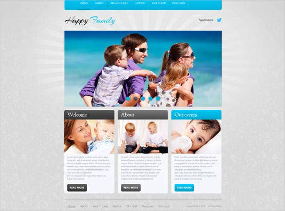 family web theme template