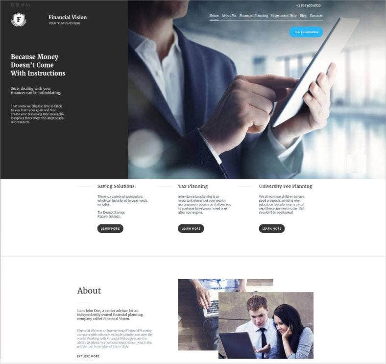 15 Best Website Templates for Financial Advisors – Best Financial Planning Sites