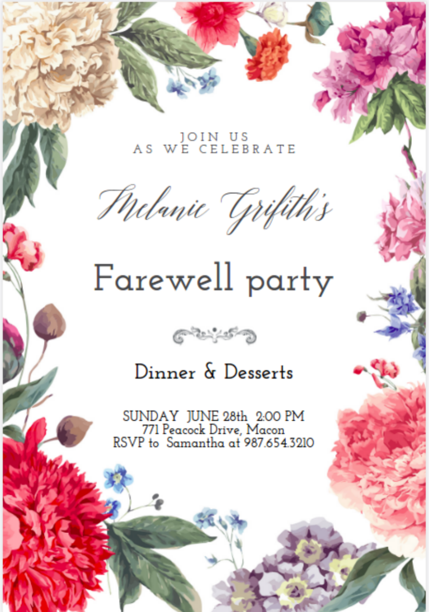 15  farewell invitation designs