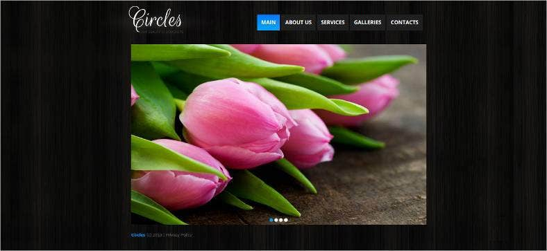 florist website template 788x363