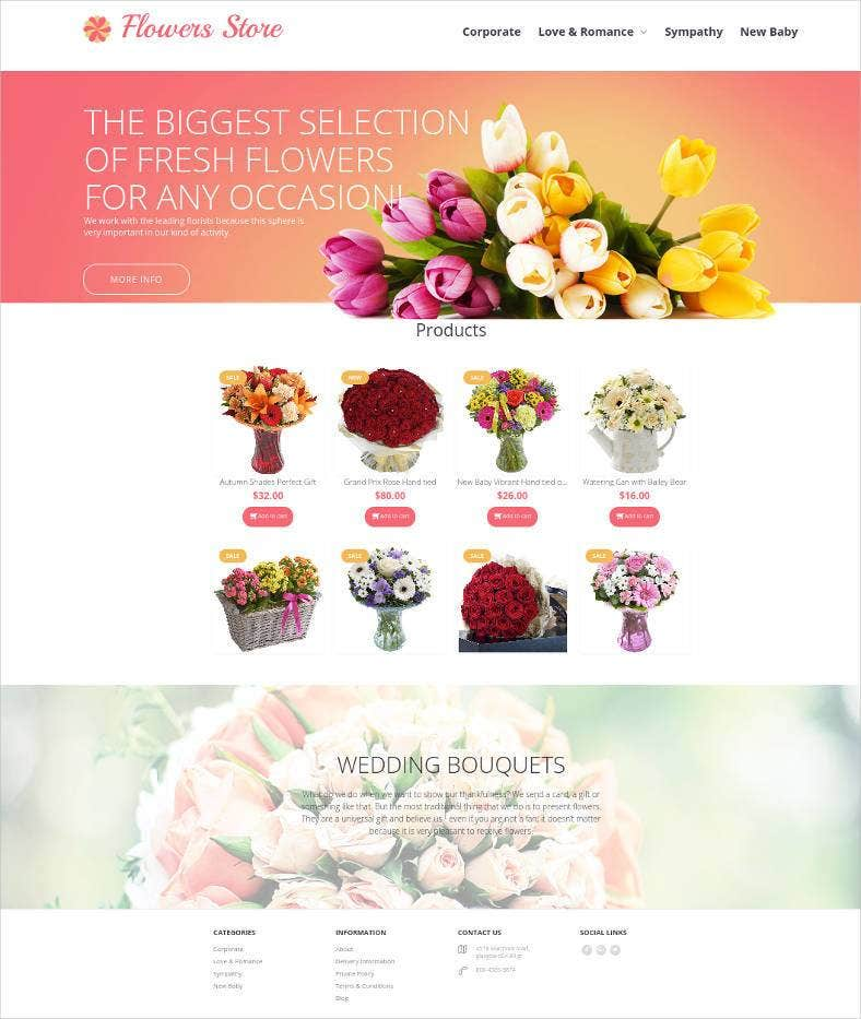 flowers store ecommerce website template 788x933