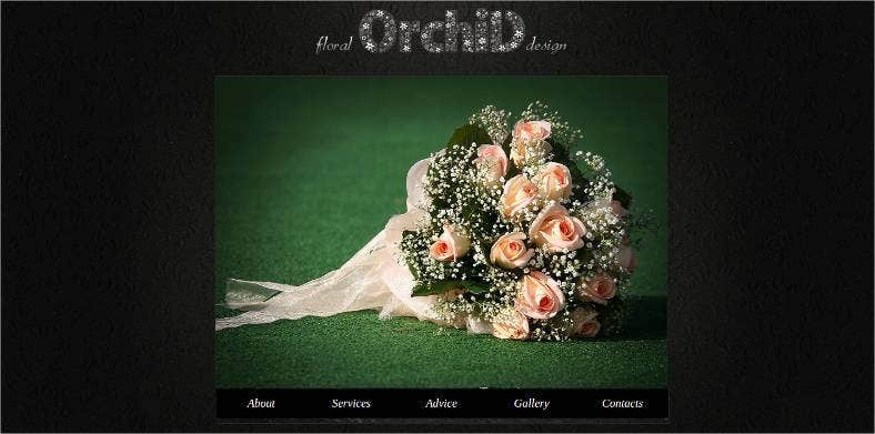 flowers website template 788x391