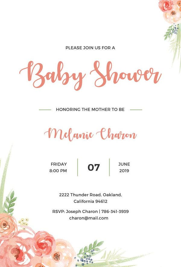 22  best baby shower invitation templates
