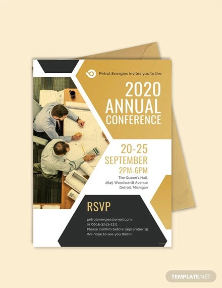 free conference invitation sample template1