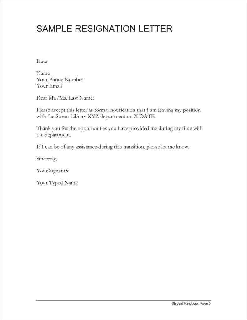 free employee formal resignation letter pdf template 11 788x1019