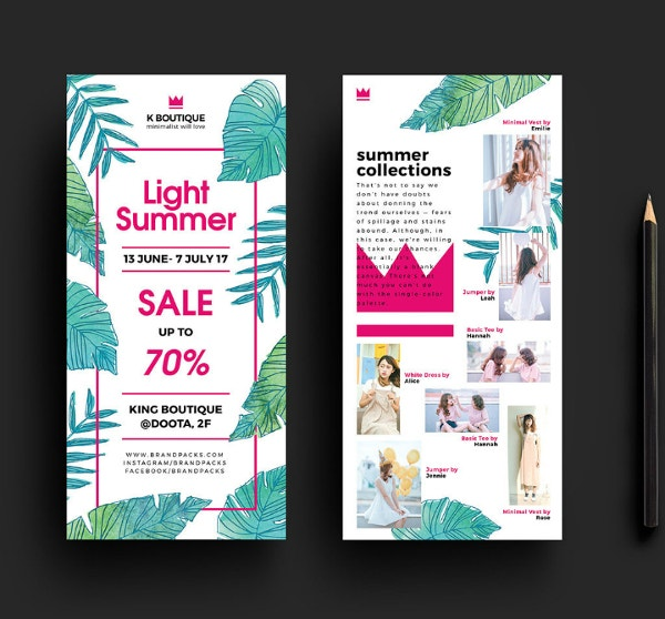free-fashion-boutique-rack-card-template