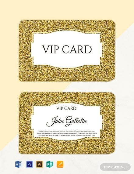 free golden membership card design template