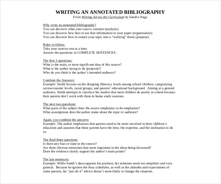 free mla annotated bibliography format template