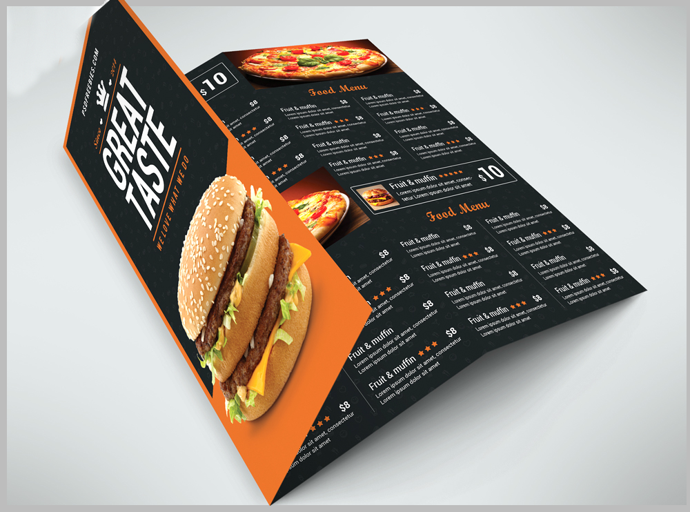 free restaurant menu card design