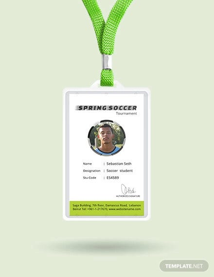 free soccer identity card template1