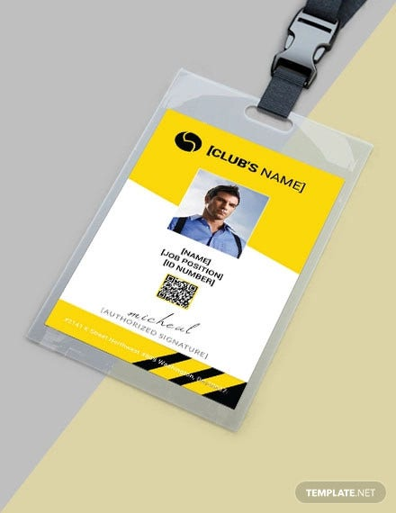 free sports identity card template