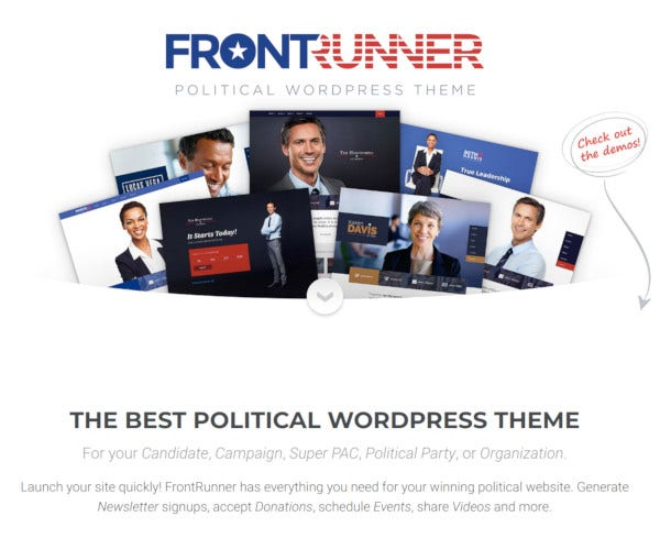 frontrunner political wordpress theme