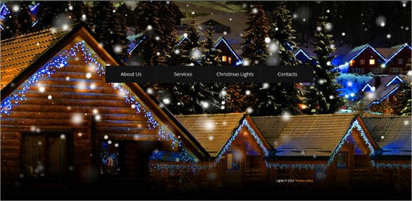 full screen christmas website template