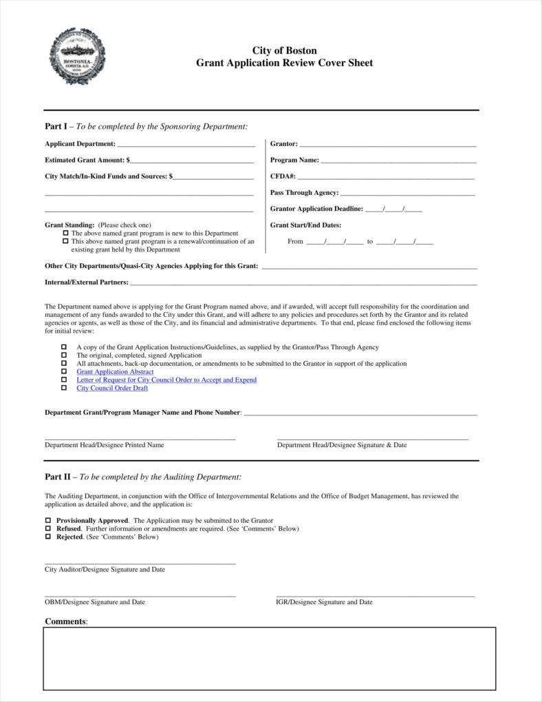 grant application review template