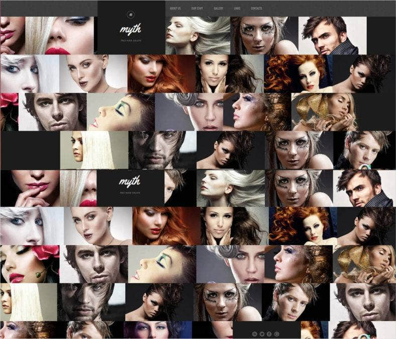 hair salon html website template 788x674